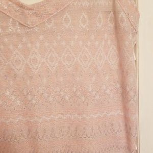 American Eagle Outfitters Tops - American Eagle pink and silver tank.sz medium